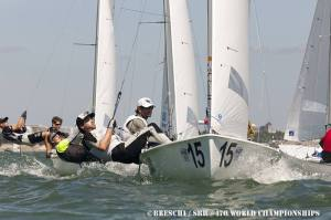 Approaching the first mark in the Medal Race.