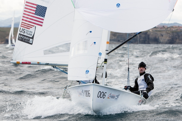 Ripping downwind before Race 4. Photo credit: Mick Anderson